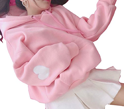 - Nite closet Hoodies for Women Plus Size Pink Cute Lolita Outfit (Pink, 14W-16W)