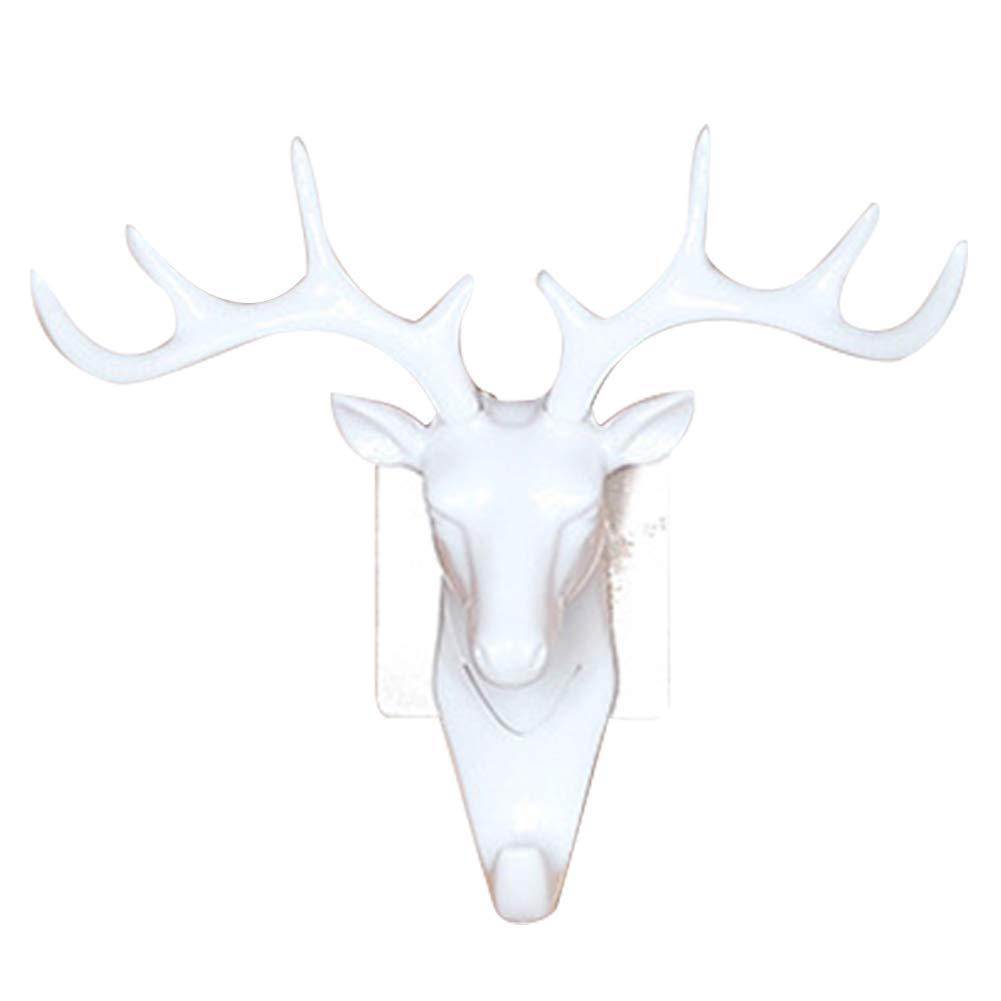 YOUNICER Gancio da muro con testa di cervo con testa di cervo vintage per appendere i vestiti