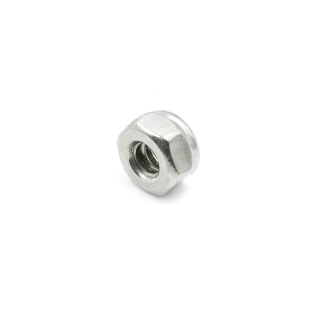 TUOREN 10#-24 Stainless Steel Nylon Insert Hex Lock Nuts 50Pcs