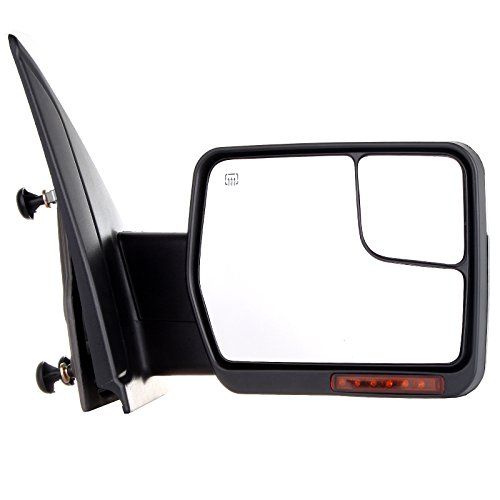 Towing Mirror by ECCPP Chrome Right Side Mirror Replacement for 2007-2014 Ford F-150 with Power Adjustable Heated Turn Signal Puddle Light