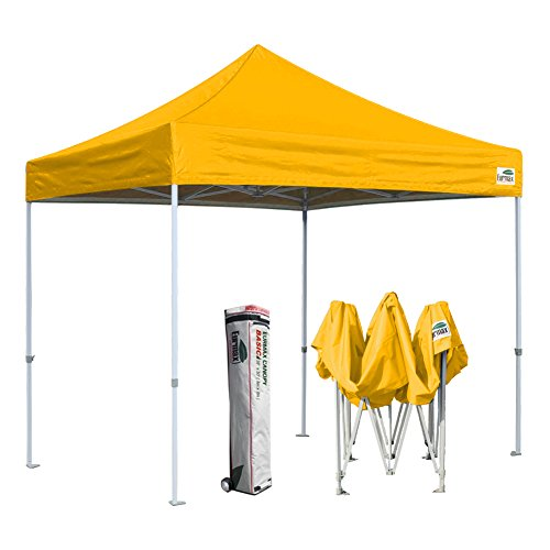 Eurmax 10'x10' Ez Pop Up Canopy Tent Commercial Instant Shelter with Heavy Duty Roller Bag (Gold)