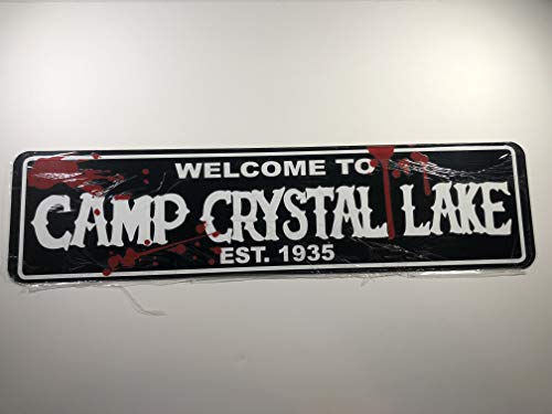 POP Culture Signs Camp Crystal Lake Bloody Street Sign 24 x 6 INCH