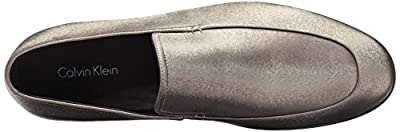Calvin Klein Men's Nicco Emboss Leather Slip-On Loafer