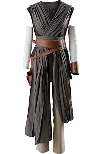 Cosplaysky Star Wars 8 The Last Jedi Rey Costume Halloween Outfit
