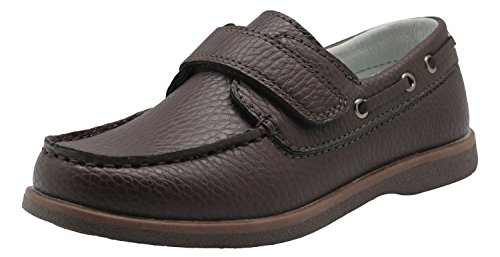Image of Apakowa Kids Boys Loafers Casual Slip On Boat Shoes with Strap (Toddler/Little Kid/Big Kid)