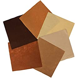 KINGSO Assorted Color Felt Fabric Sheets Patchwork Sewing DIY Craft 30x30cm Brown Series