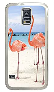 Samsung Note S5 CaseFlamingos On The Beach PC Custom Samsung Note S5 Case Cover Transparent