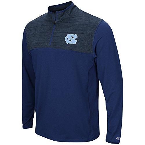 Colosseum Men's NCAA-Big and Tall Sizes-1/4 Zip Pullover Windshirt-North Carolina Tar Heels-Navy-4XL Big ()