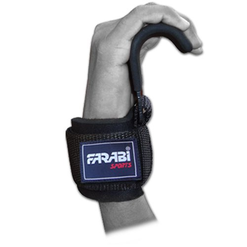Farabi Pull up Bar Straps Wrist Support Weight Lifting Gym Hook Exercise