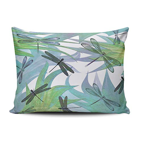 MUKPU Home Custom Pillowcase Colorful Dragonfly Abstract Decorator Simple and Chic Throw Pillowcase Cushion Cover Double Sided Printed Design Queen 20x30 Inches ()