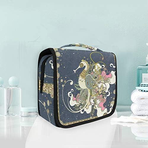 アートかわいい動物ハンギング折りたたみトイレタリー化粧品袋メイク旅行オーガナイザーバッグケース用女性女の子浴室