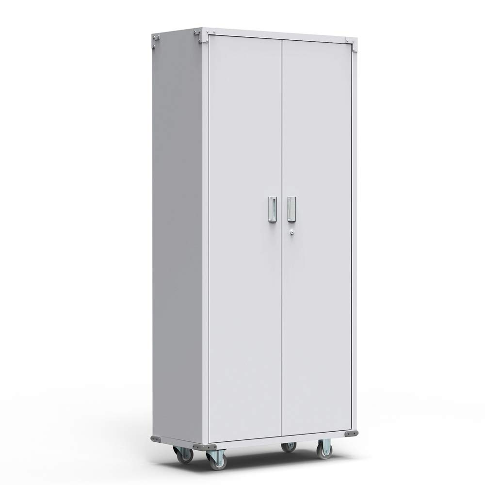 AlightUp 69-Inch Tall Steel Storage Cabinet Rolling Metal Storage Locker with Adjustable Shelves and Door for Garage, Office, Kitchen, Laundry Room by Alightup