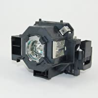 FL ELPLP78 V13H010L78 Projector Video Lamp Bulb Replacement With Housing For PowerLite Home Cinema 730HD 725HD 2030 2000 PowerLite X17 E3W17 S17 99W 98 97 965 1262W 1222 EX Series EX3220 EXX5220 EX6220 EX7220 Original Lamps Wick and Reflector With Genie Cover Sharp Picture 2500 hrs Life High Definition and Brightness