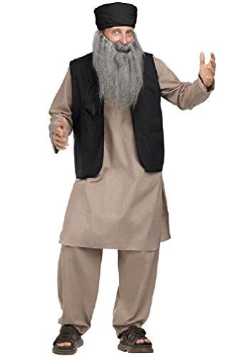 [8eighteen Middle Eastern Afghan Pashtun Papa Adult Costume] (Middle Eastern Girl Costume)