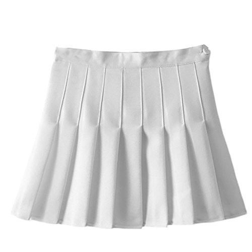 Women Girls Sports High Waist Flared Skater Mini Tennis Skirt School Uniforms Cosplay Pleated Skorts with Shorts Underwear