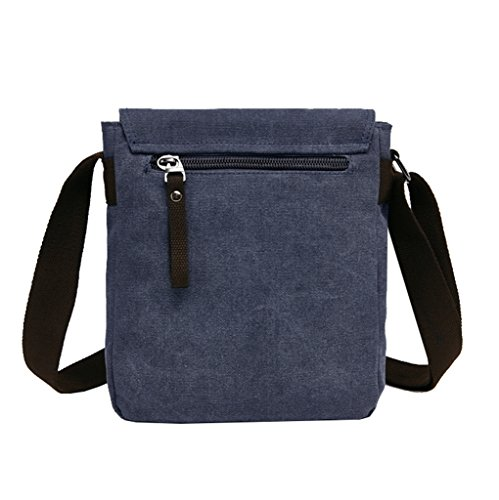 Modern; hombre correa bolso lona de con hombro de de hombres mujeres fina de diseño para Bolso mensajero azul y azul moderno de Super 7nIwx5FRq8