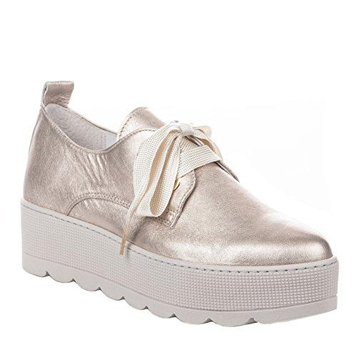 Chaussures Beige Femme Beige Rose Lacets à Louisa 4BYxqgq