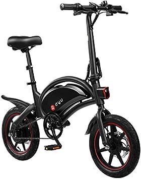 DYU D3F Bicicleta eléctrica Plegable de montaña, Bicicleta de ...