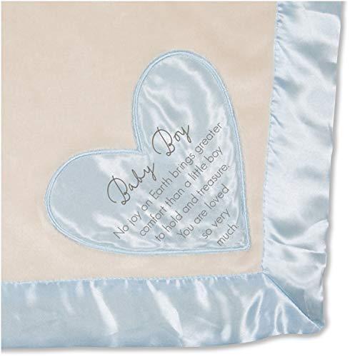 - Pavilion - Baby Boy - Blue Silk Edge Royal Plush Baby's First Blanket 30 x 40 Inch