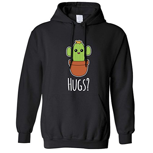 Funny Unisex Hoodie Cactus Wants Hugs Novelty Design