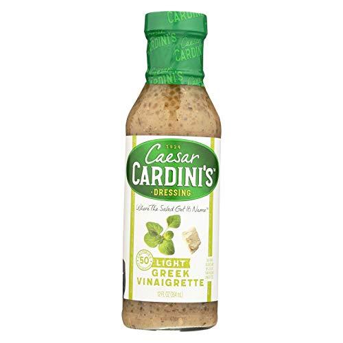 Cardini Light Greek Vinaigrette Dressing, 12 Ounce (Pack of 6)