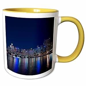 3dRose Danita Delimont - Sydney - Darling Harbour, Sydney, New South Wales, Australia.-AU01 SPI0145 - Sergio Pitamitz - 11oz Two-Tone Yellow Mug (mug_75419_8)