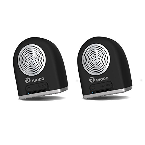 Riodo Portable Bluetooth Speakers, Magnetic True Wireless Stereo Speaker V4.2 Dual TWS Audio for Phones Tablets PC iPhone Android by RIODO