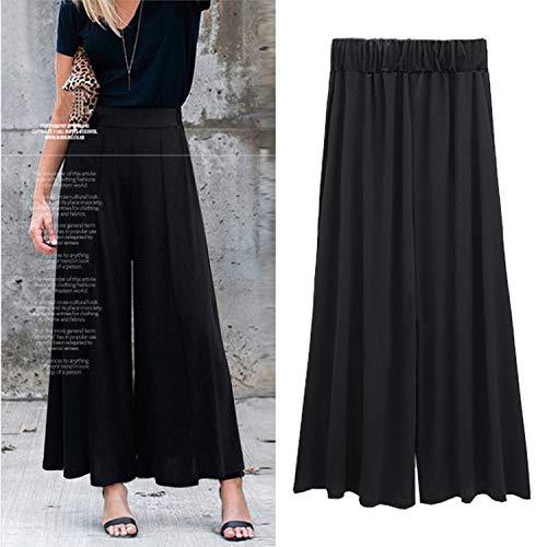 (Flare Pants Woman Winter High Waist Black Bell Pants Flared Trousers Wide Leg,Black,4XL)