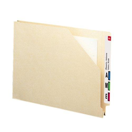 Smead End Tab File Jacket, Shelf-Master Reinforced Straight-Cut Tab, 1-1/2