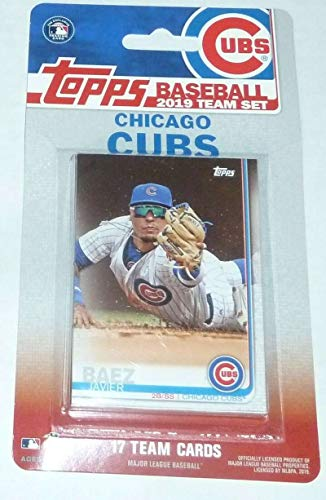 2019 Topps Factory Sealed Chicago Cubs Team Set of 17 Cards: Javier Baez(#CC-1), Anthony Rizzo(#CC-2), Kris Bryant(#CC-3), Jon Lester(#CC-4), Kyle Schwarber(#CC-5), Kyle Hendricks(#CC-6), Willson Contreras(#CC-7), Ben Zobrist(#CC-8), Jason Heyward(#CC-9), Albert Almora Jr.(#CC-10), Ian Happ(#CC-11), David Bote(#CC-12), Cole Hamels(#CC-13), Yu Darvish(#CC-14), Jose Quintana(#CC-15), Mike Montgomery(#CC-16), Brandon  Morrow(#CC-17)