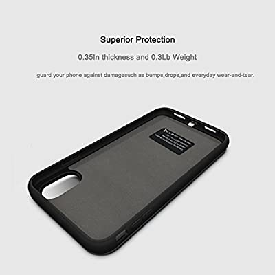official photos 0f1cb 317f1 iPhone X Battery Case, ZTESY iPhone X 5000mAh Capacity Extended ...