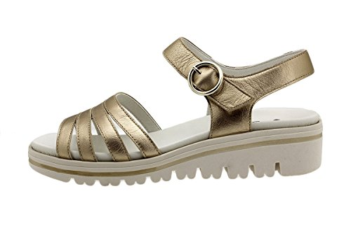 Zapato Metal Sandalia Confort 180786 Platino Plantilla Ante Extraíble Piesanto Orion HOx0Hq