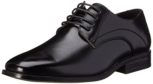 Stacy Adams Carmichael Plain Toe Lace-up Uniform Oxford Dress Shoe (Little Kid/Big Kid),Black,6 M US Big Kid