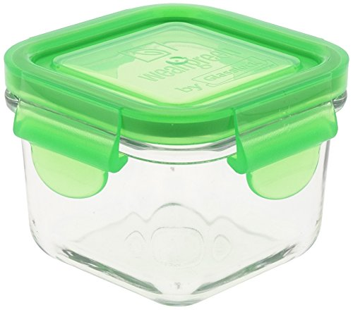 Wean Green Snack Cubes Glass Food Containers, Single, Pea
