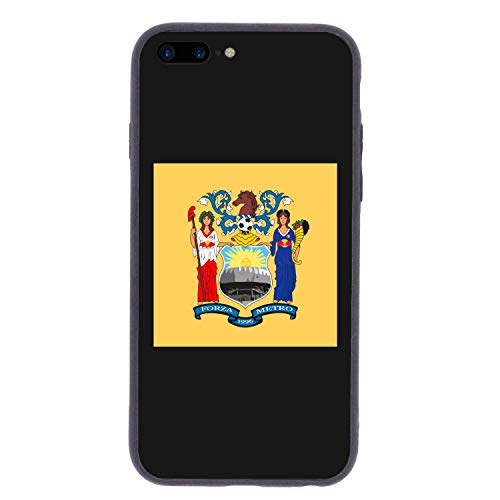 CHUFZSD US New Jersey State Flag iPhone 7/8 Plus Case Soft Flexible TPU Anti Scratch Shock-Proof Protective Shell Compatible Phone Case Cover (5.5 Inch)