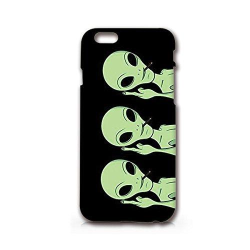 SUPERTRAMPshop - Yin Yang Alien - Cover Iphone 6 Full Protection Matt Black Plastic Phone Case