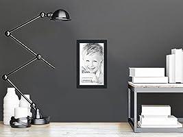 Amazoncom Arttoframes 10x16 Inch Satin Black Picture Frame
