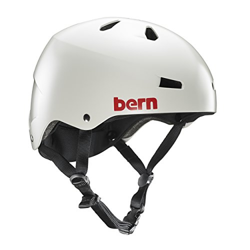 Bern Macon Hard Hat, Satin Light Grey, Large