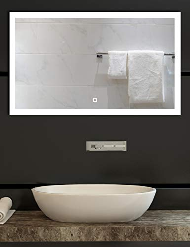 40x24 inch Dimmable LED Lighted Bathroom Wall Mounted Vanity Mirror | Dimmable -