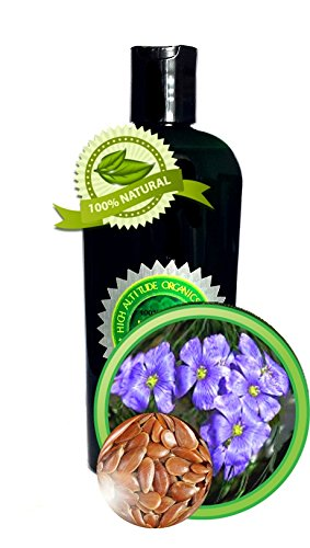 Flax Seed Oil - 4oz - Cold-pressed, Virgin by High Altitude Organics
