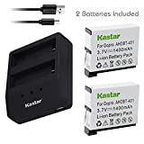 Kastar Battery (X2) & Dual USB Charger for GoPro HERO4 and GoPro AHDBT-401 - AHBBP-401 Sport Cameras