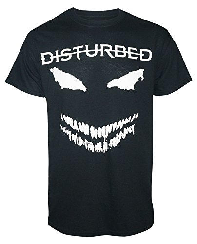 MERCH TRAFFIC Disturbed Men's White Scary Face T-Shirt Black -