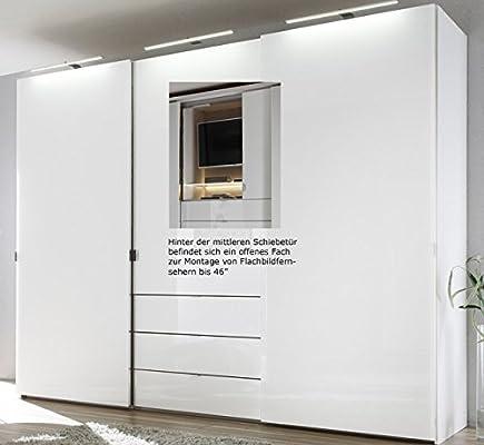 Staud Media Kleiderschrank mit TV Fach weiß Breite 298 cm ...