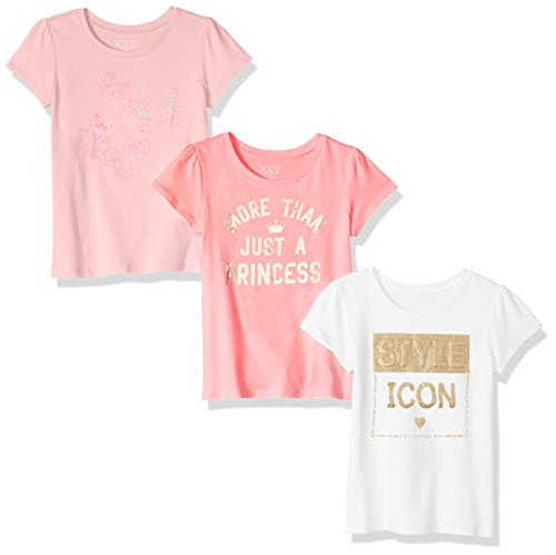 The Children's Place Baby Girls' Toddler 3 Pack Fashion Graphic Tees, Multi Clr 82795 4T ()