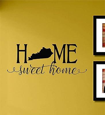 Home sweet home Kentucky State Vinyl Wall Art Decal Sticker