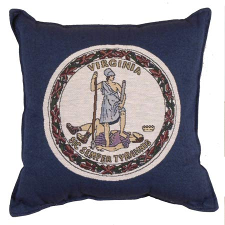 - LoomHome Flag of Virginia Tapestry Pillow