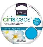 DEVINEAU 1601833 Ciris Caps 4 Diffuseur Capsules de Cire Monoï de Polynésie