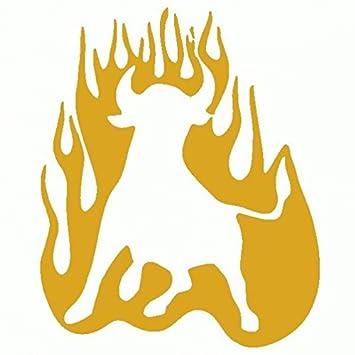 Toro Con Fuego Skin Prespaziato 15 Cm Color Dorado