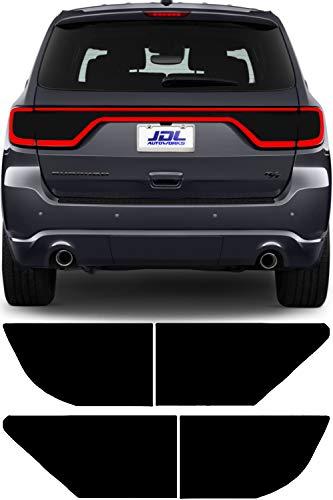 JDL Autoworks 2014-2019 Dodge Durango Tail Light Tint Kit | Precut Dark Black Smoke Vinyl Overlays for '14-'19 Dodge Durango Taillight | Tinted Dry Application Film