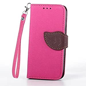 ZL Samsung S4 Mini I9190 compatible Solid Color PU Leather Cases with Stand , Brown